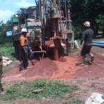 Bohrarbeiten am Brunnen