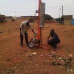 Vorbereitung der Brunnenbohrung